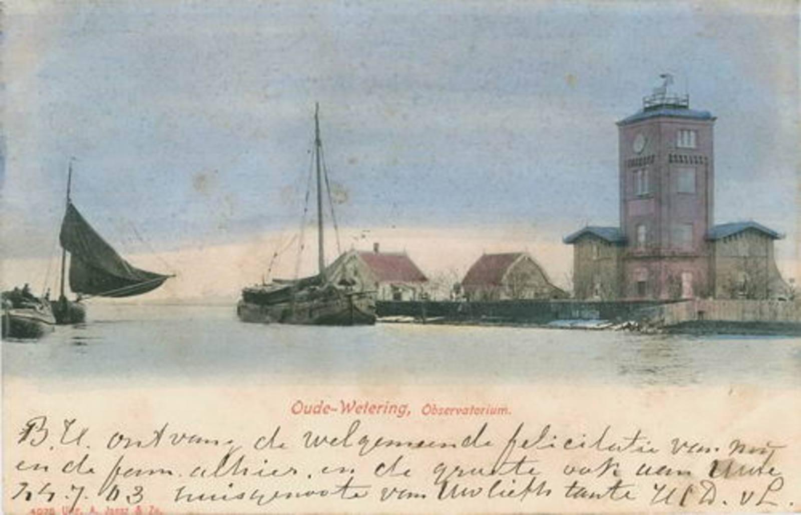 Huigsloterdijk 0050± Overzijde 1903 Oude Wetering Observatorium_Kleur