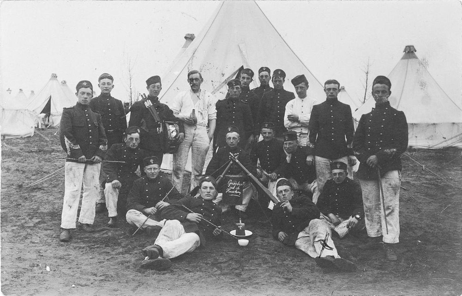 Jansen Maarten AbrZn 1911 Militair in de Harskamp