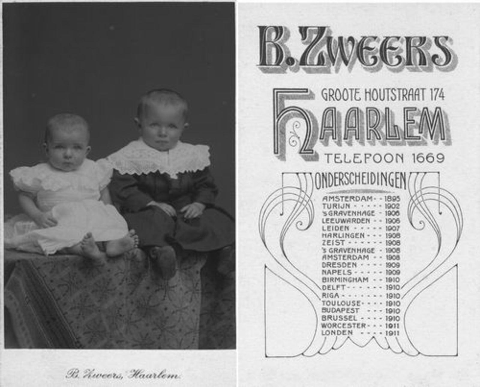 Koeckhoven Therus Pietzn 1912 1913 met neef Therus Klaaszn