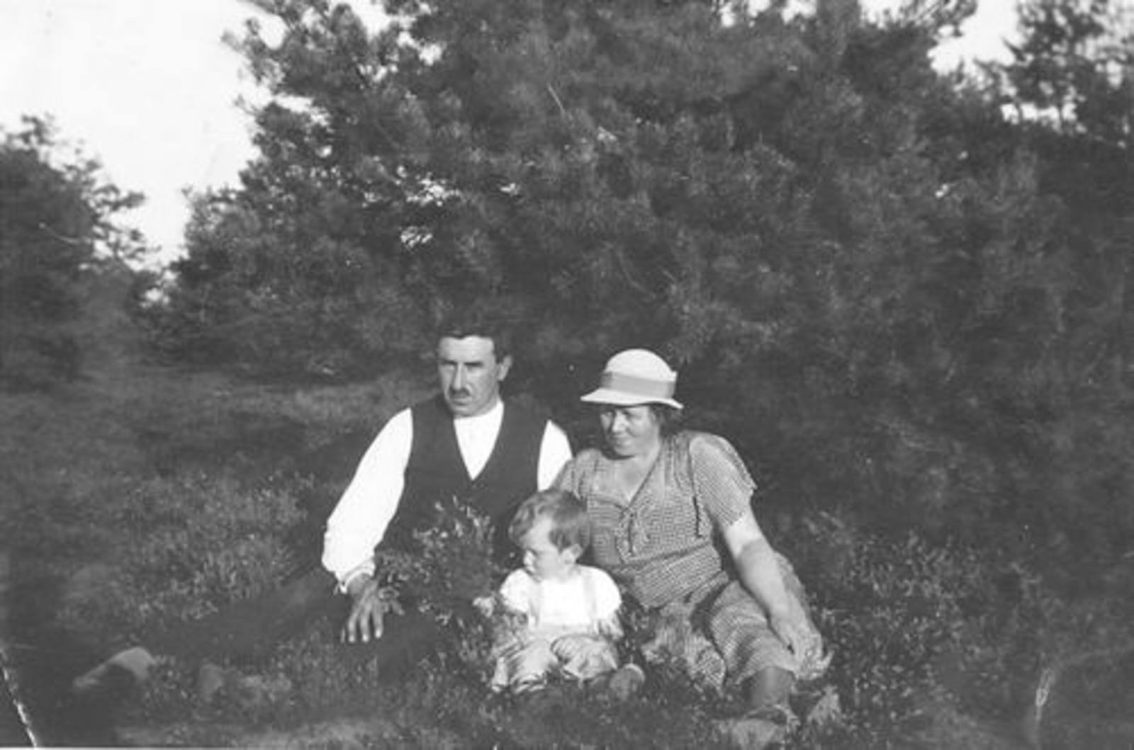 Koning Piet de 1891 1931± met Vrouw en zoontje Joop op de Heide
