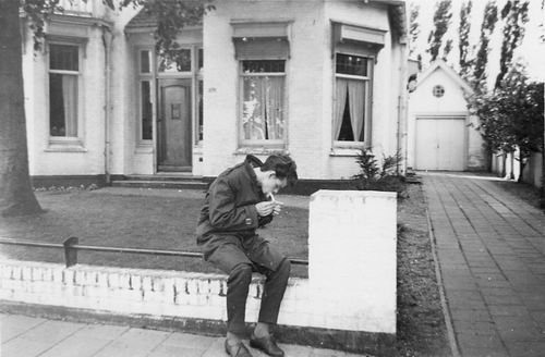 Koolbergen Aad 1941 1959 voor Burgermeesterwoning Hoofdweg 679