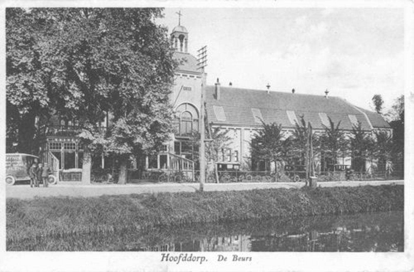 Kruisweg N 1007 1930± Beurs Toren Hoofdwegzijde_2
