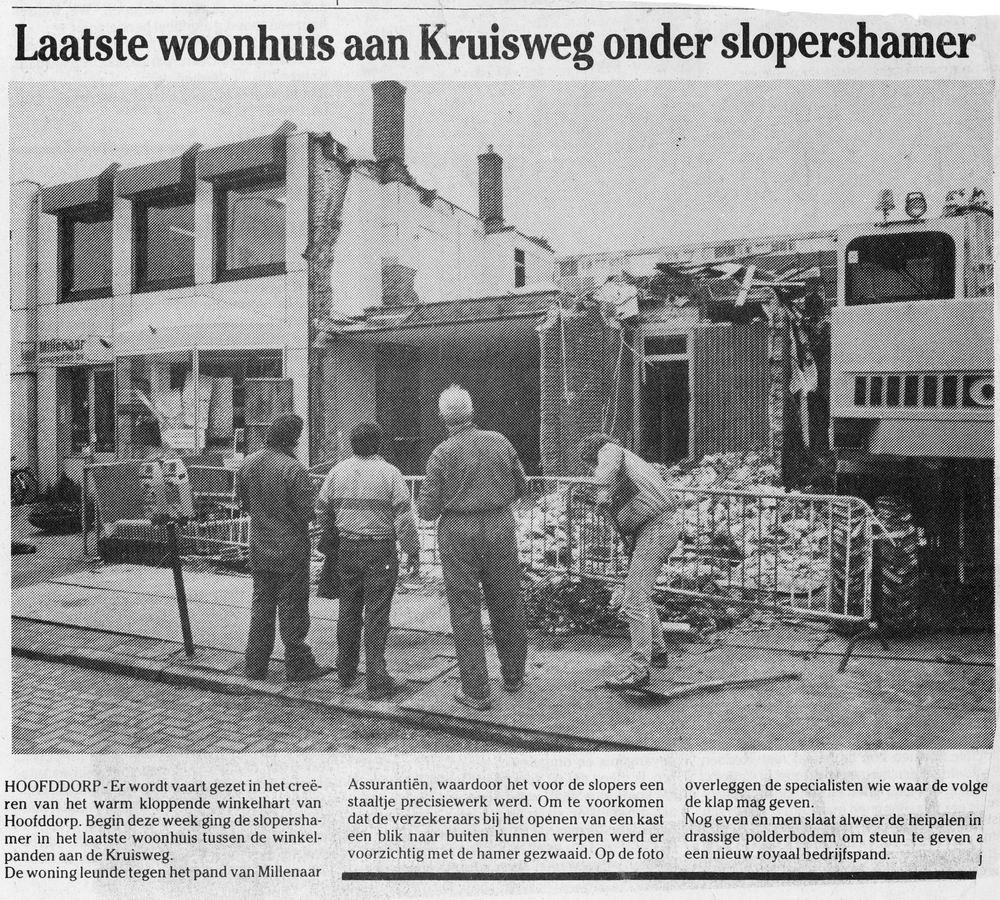 Kruisweg Z 0654 1990 Sloop huize Wubbe - Kranenburg