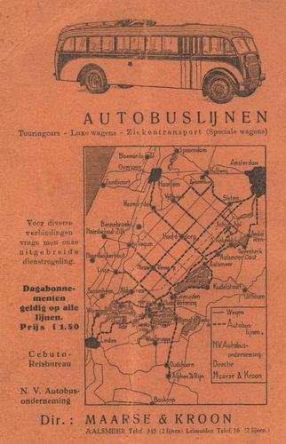 Maarse en Kroon 1938 Autobuslijnen
