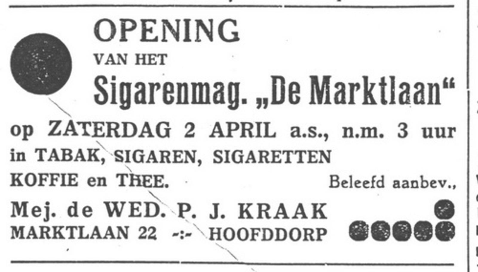 Marktlaan O 0022 1938 Sigarenboer Kraak Opening 01
