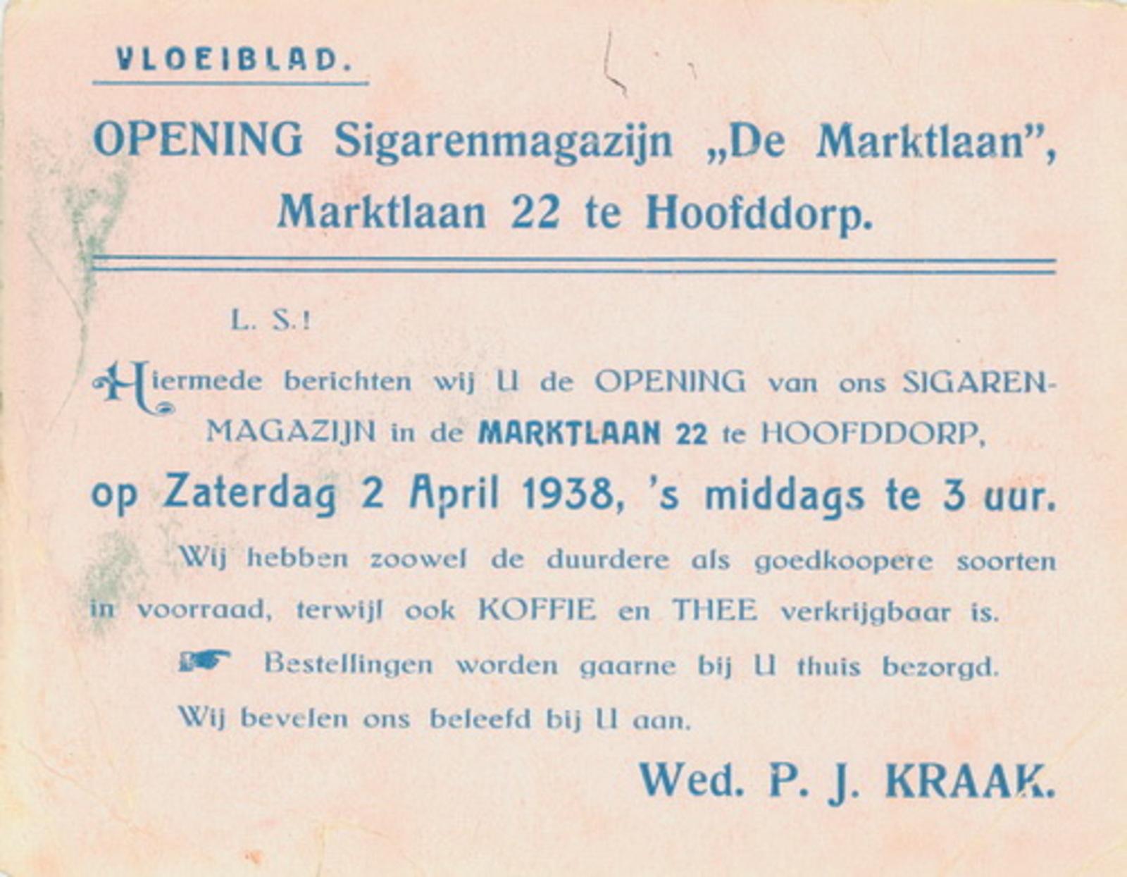 Marktlaan O 0022 1938 Sigarenboer Kraak Opening 02