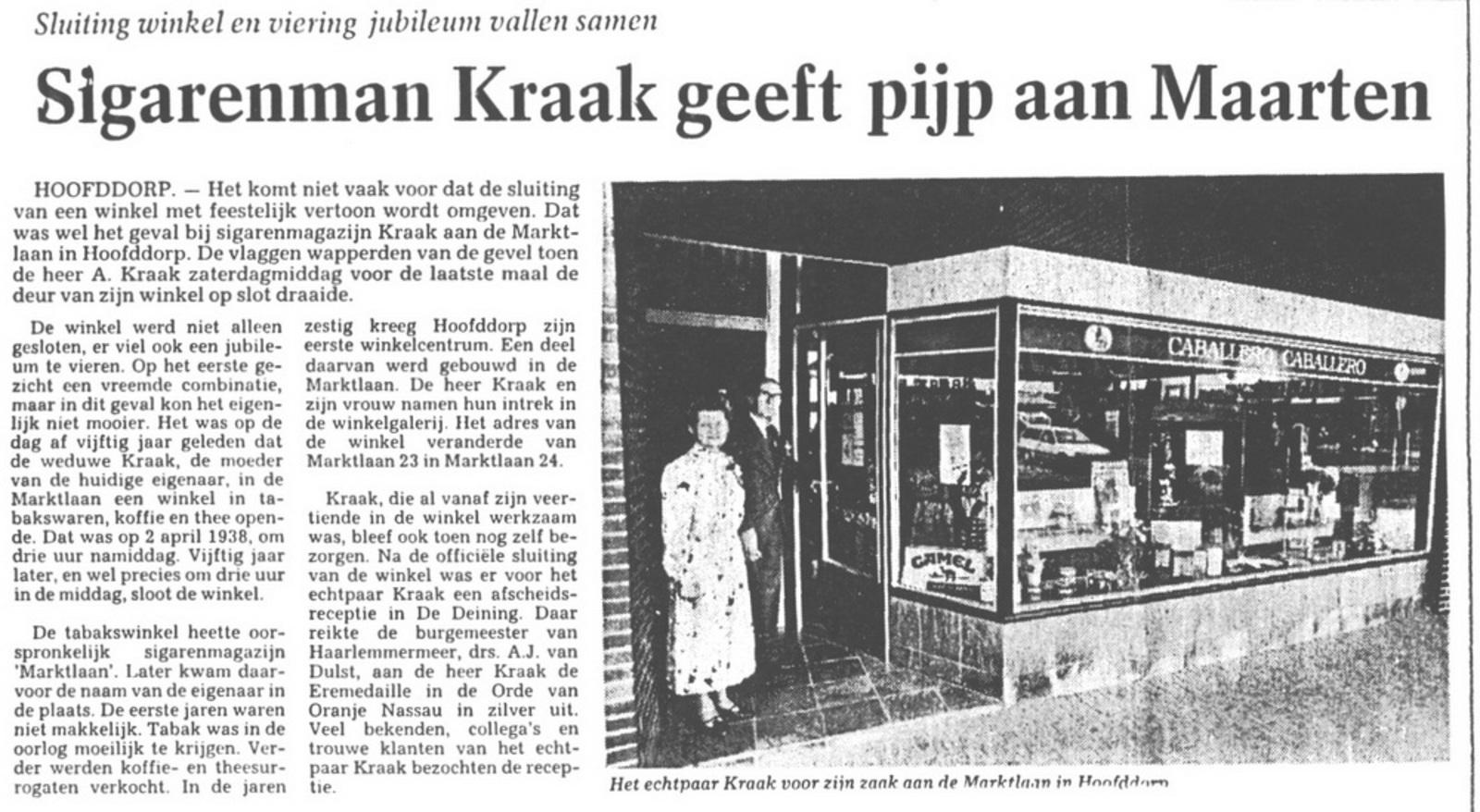 Marktlaan O 0022 1988 Sigarenboer Kraak 50jr Jub en Sluiting 03