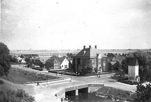 Marktplein N 0047 1944 Polderhuis vanaf Raadhuisdak