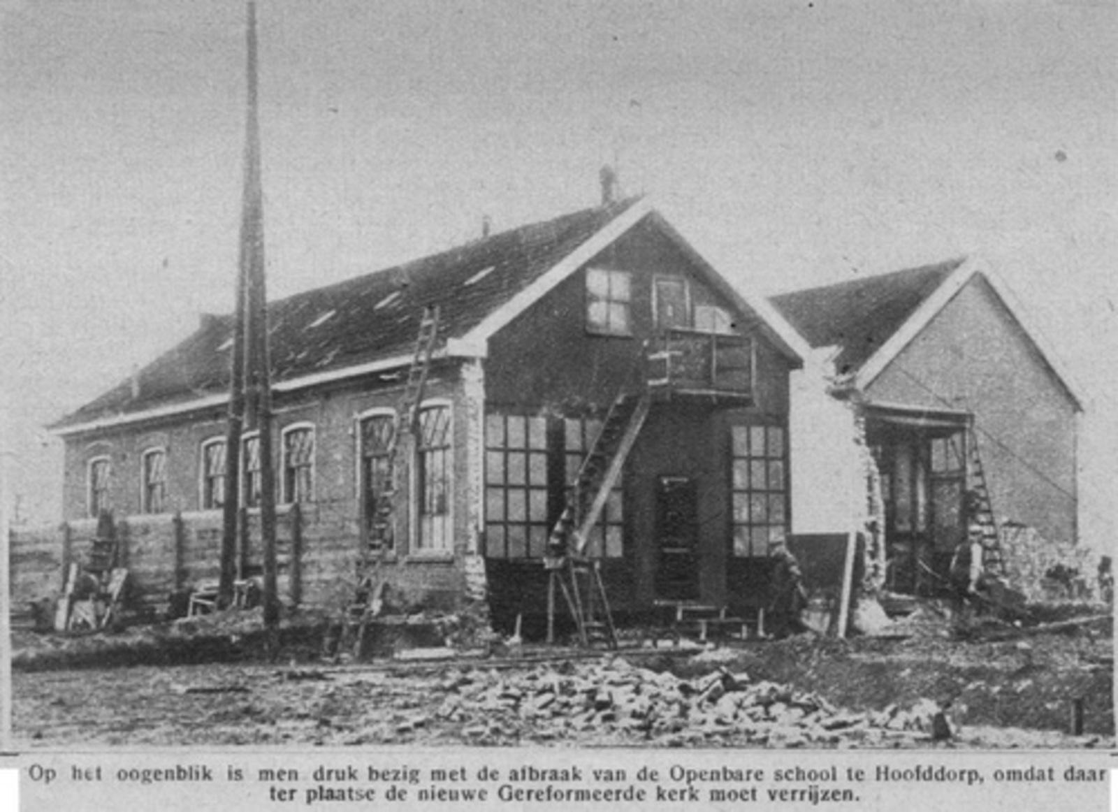 Marktplein Z 0090+ Openbare School 1927 Sloop