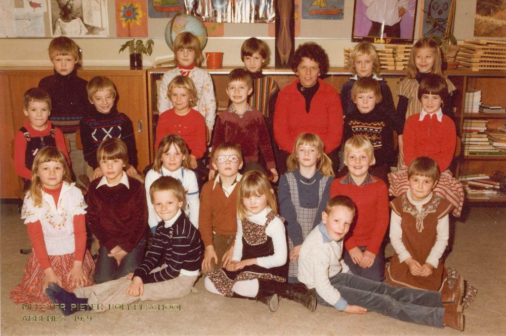 <b>ZOEKPLAATJE:</b>Meester Pieter Boekelschool 1979 Klas Onbekend 01