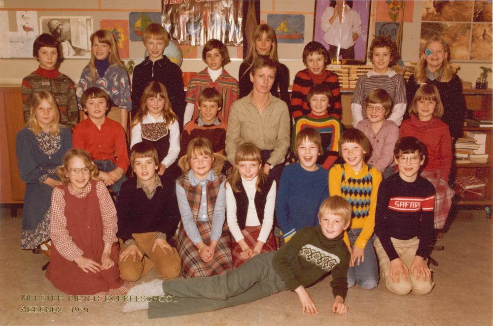 <b>ZOEKPLAATJE:</b>Meester Pieter Boekelschool 1979 Klas Onbekend 02