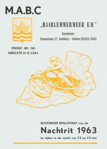 Motorclub Hmeer 1963 Programma Nachtrit MABC 01