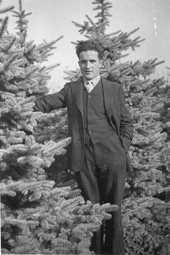 Mulder Jan Tzn 19__ tussen de Kerstbomen