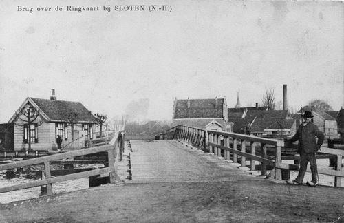 Nieuwemeerdijk 005_ 1915 Sloterbrug zicht naar Sloten