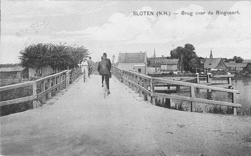 Nieuwemeerdijk 005_ 1922 Sloterbrug zicht naar Sloten