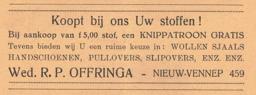 Offringa Wed R P 1938 Manufacturen in Nieuw-Vennep
