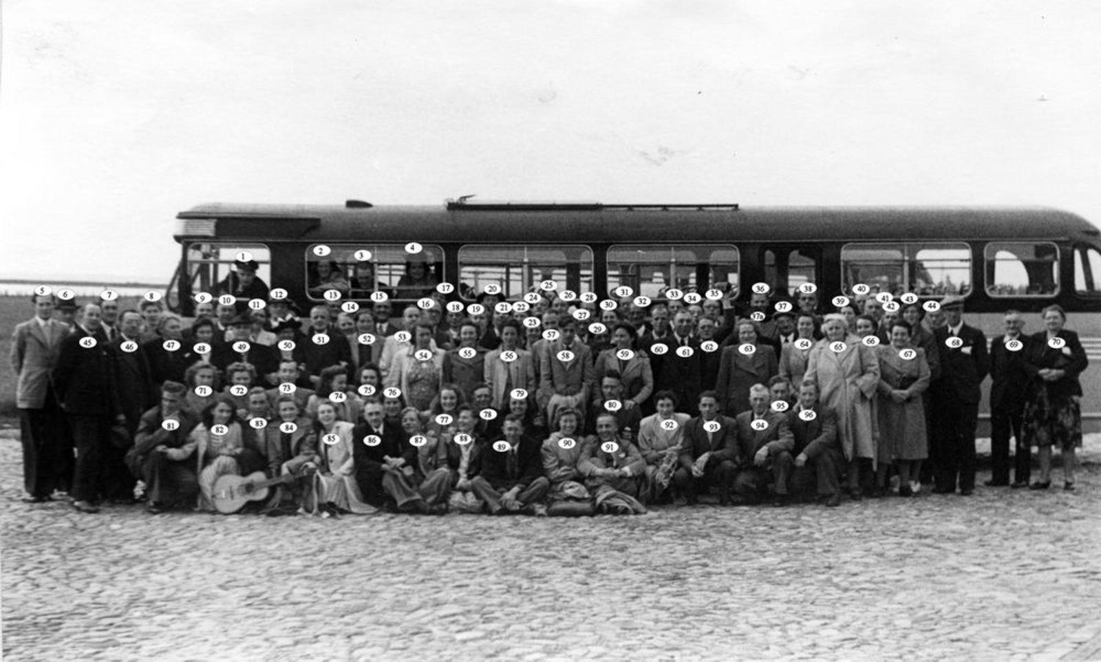 Onbekend Gemeentepersoneel 14 Dagreisje met Bus 1953_Index