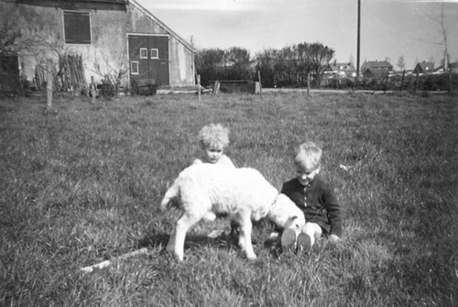 Oude Kruisweg Z 0210 1955± met Rob en Ben Pijpers