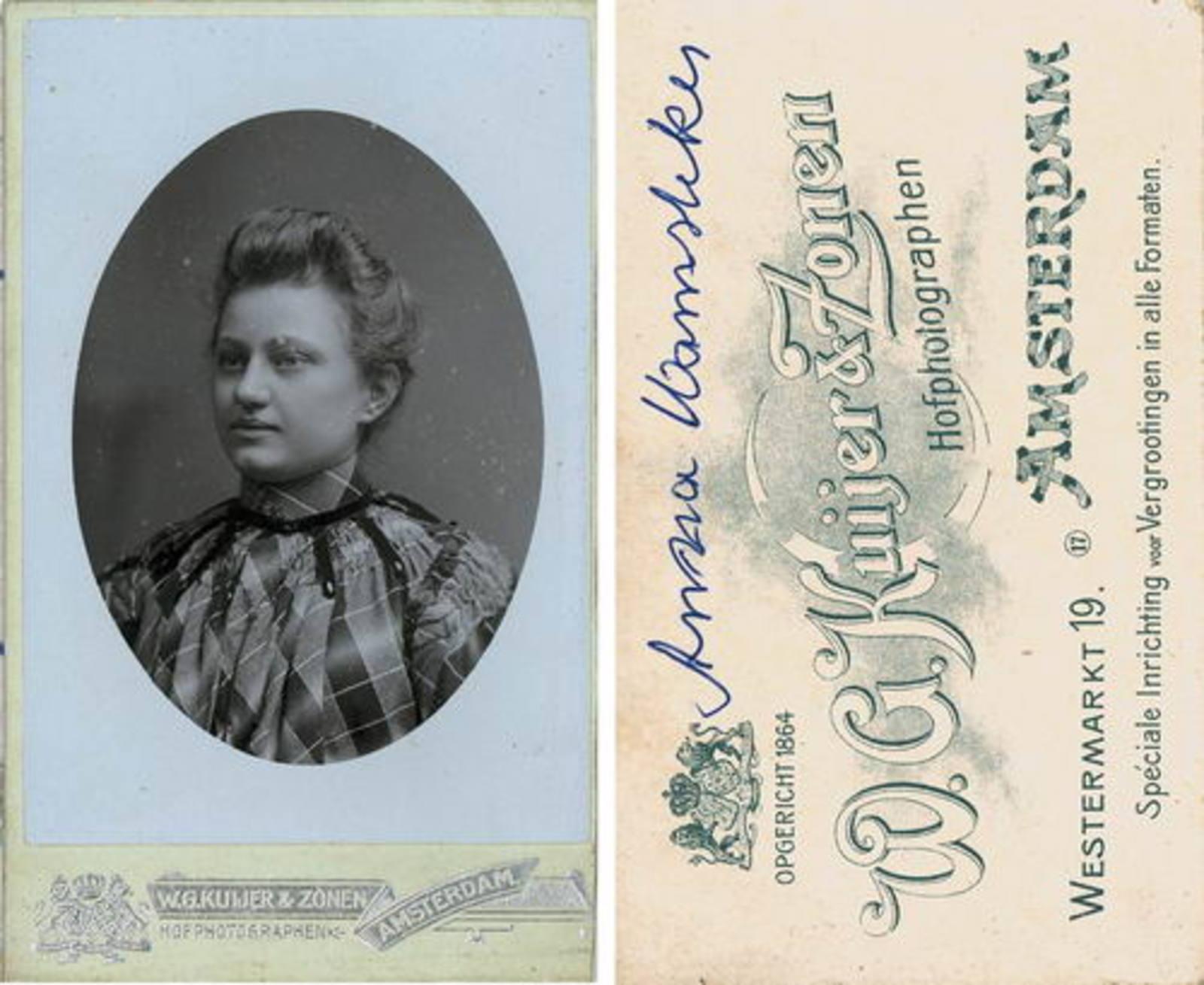 Ouden Barend Dzn den 1887± 19__ Portret vrouw Anna Wamsteeker