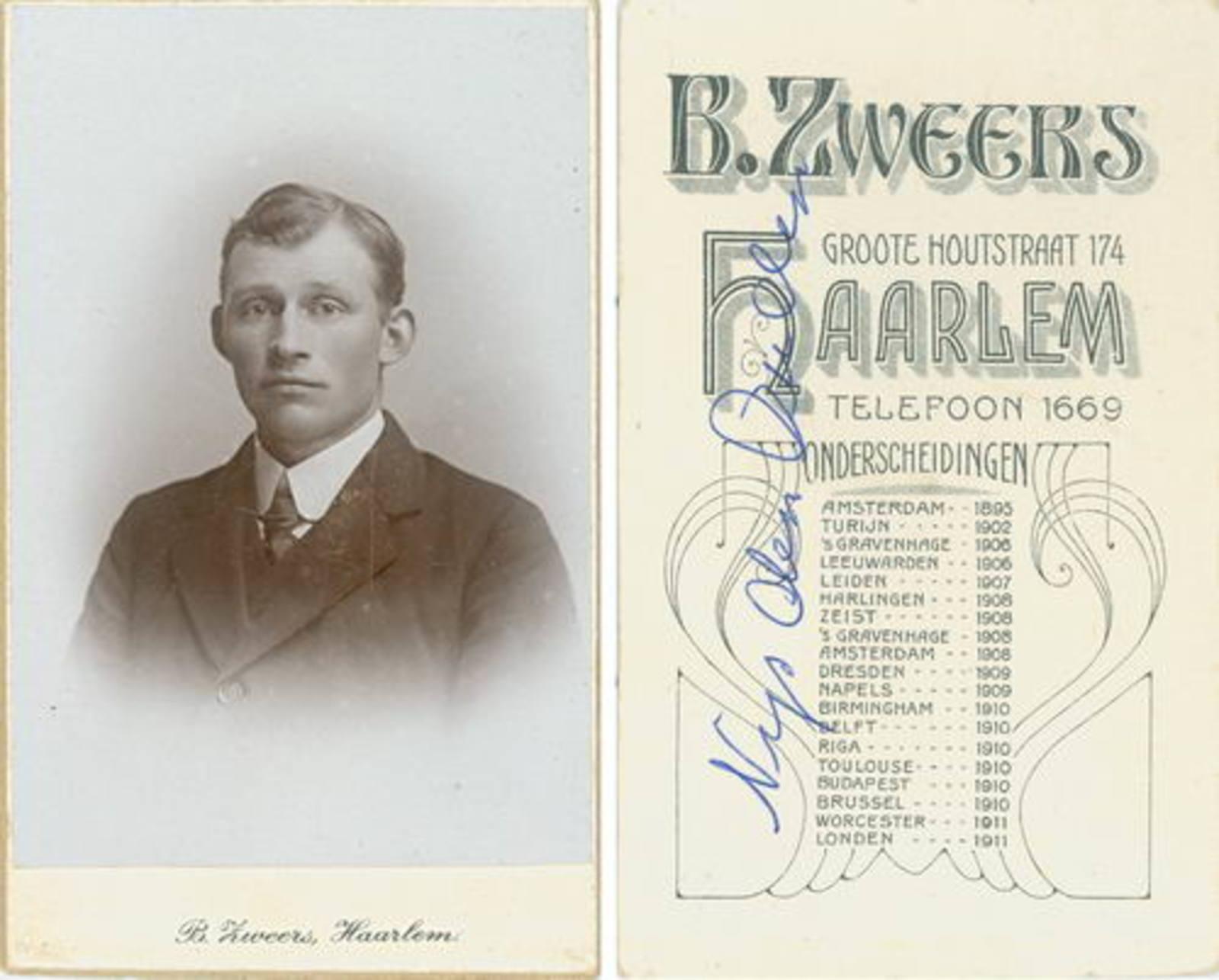 Ouden Nijs den Dirkzn 1886 1911+ Portret