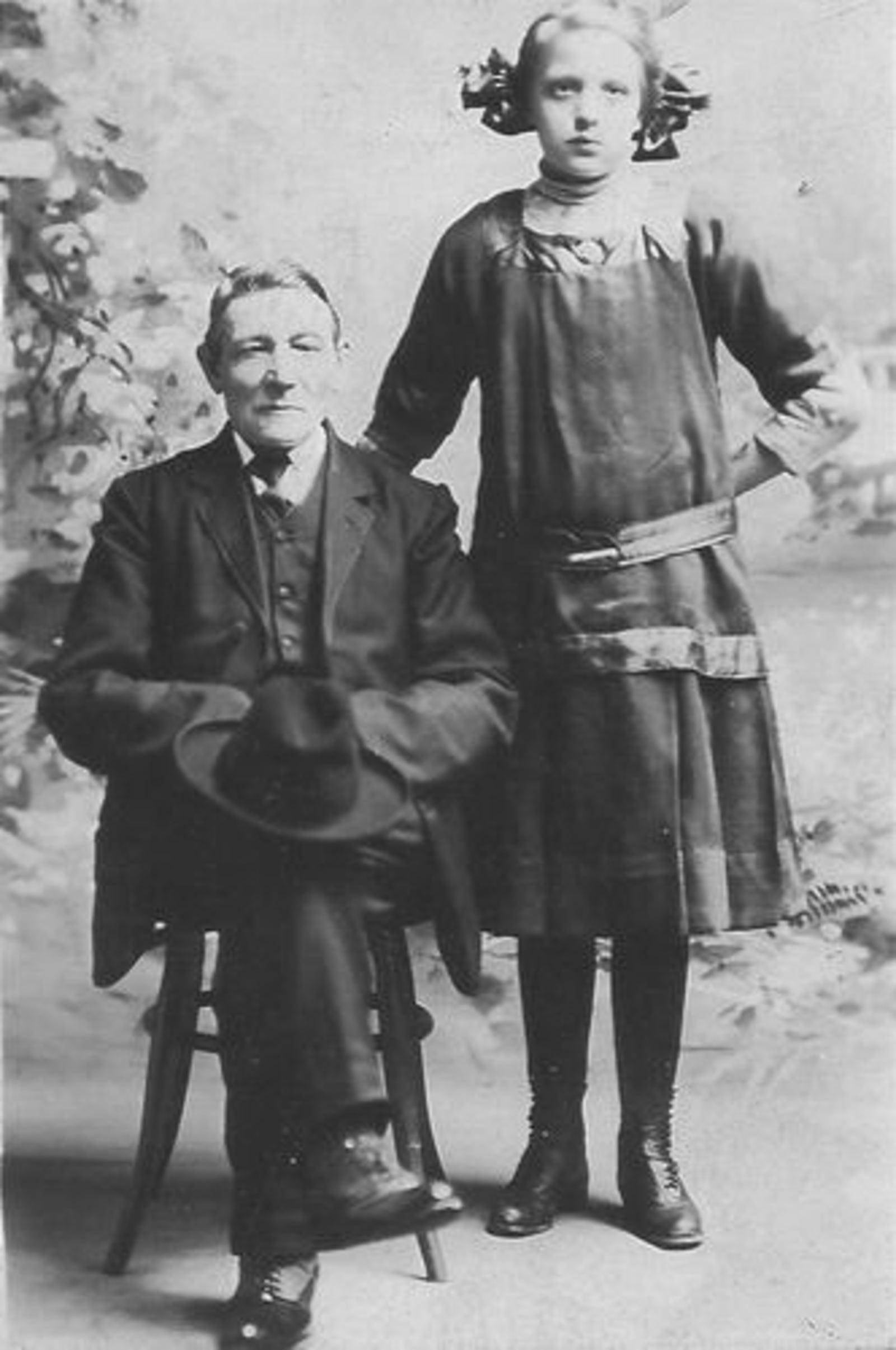 Overbeek Jacob 1843 1913 met Kleindochter Marietje in de VS