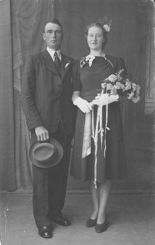 Slinger Johan 1940 trouwt Anna Berendina Venema