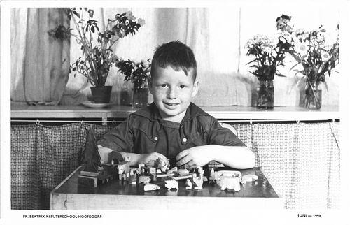 Poortvliet Dirk 1959 Schoolfoto Kleuterschool