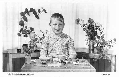 Poortvliet Dirk 1960 Schoolfoto Kleuterschool