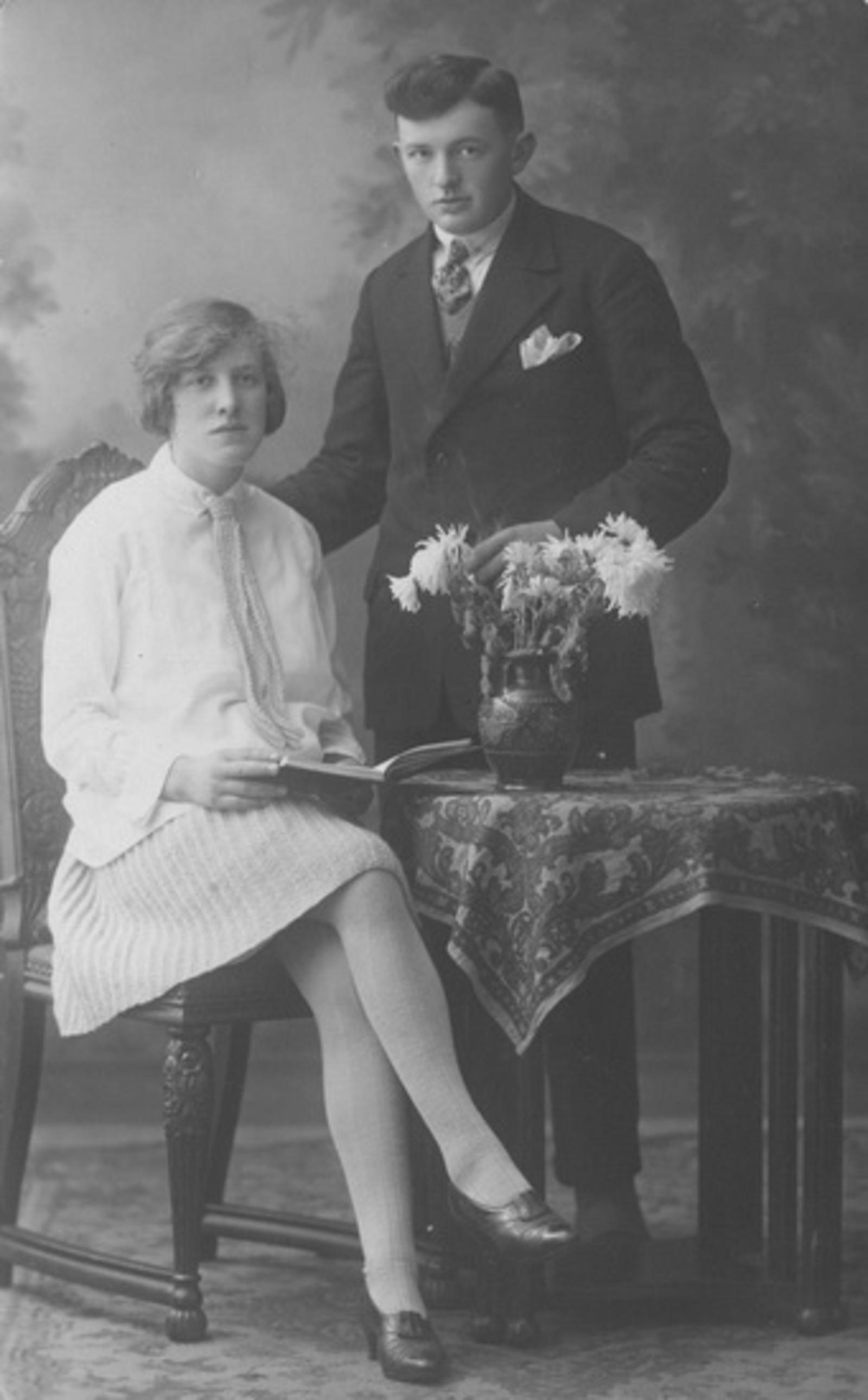 Raadhuislaan 0011 1927± met Sam de Koning en vrouw Jansje Neeltje Lanser