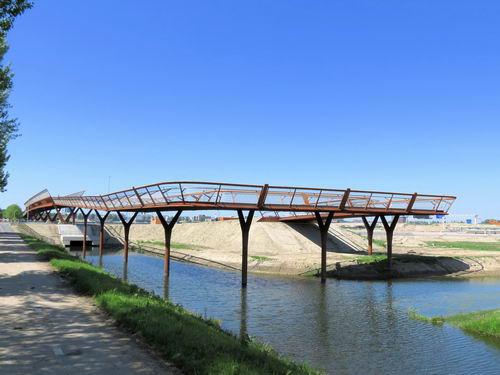 Rijksweg A4 2013 Nieuwe Fietsbrug 06
