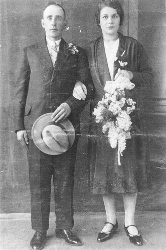 Schalk Francois 1931 trouwt Gerritje Schering