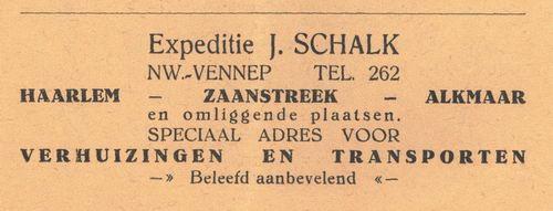 Schalk J 1938 Expediteur in Nieuw-Vennep