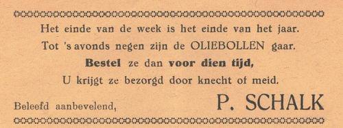 Schalk P 1938 Oliebollen in Nieuw-Vennep