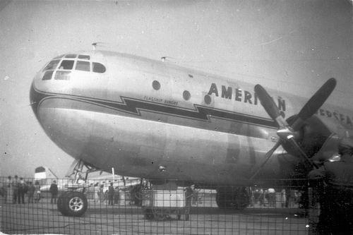 Schiphol 1949 Boeing Stratocruiser voor het eerst in Ned 01
