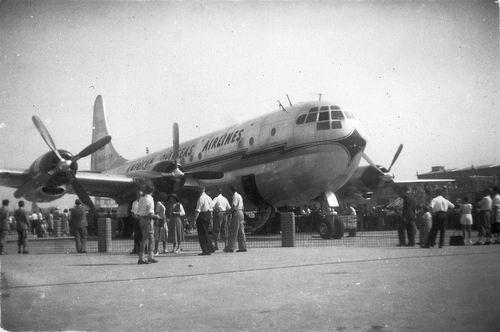 Schiphol 1949 Boeing Stratocruiser voor het eerst in Ned 02