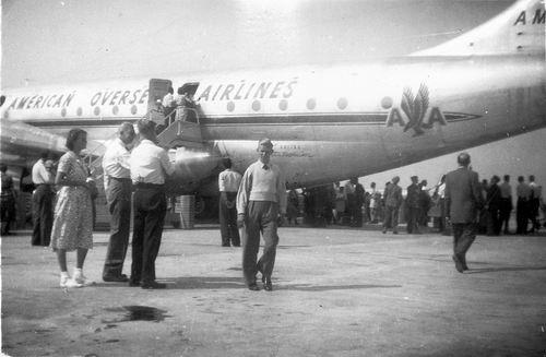 Schiphol 1949 Boeing Stratocruiser voor het eerst in Ned 03