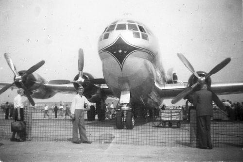 Schiphol 1949 Boeing Stratocruiser voor het eerst in Ned 04