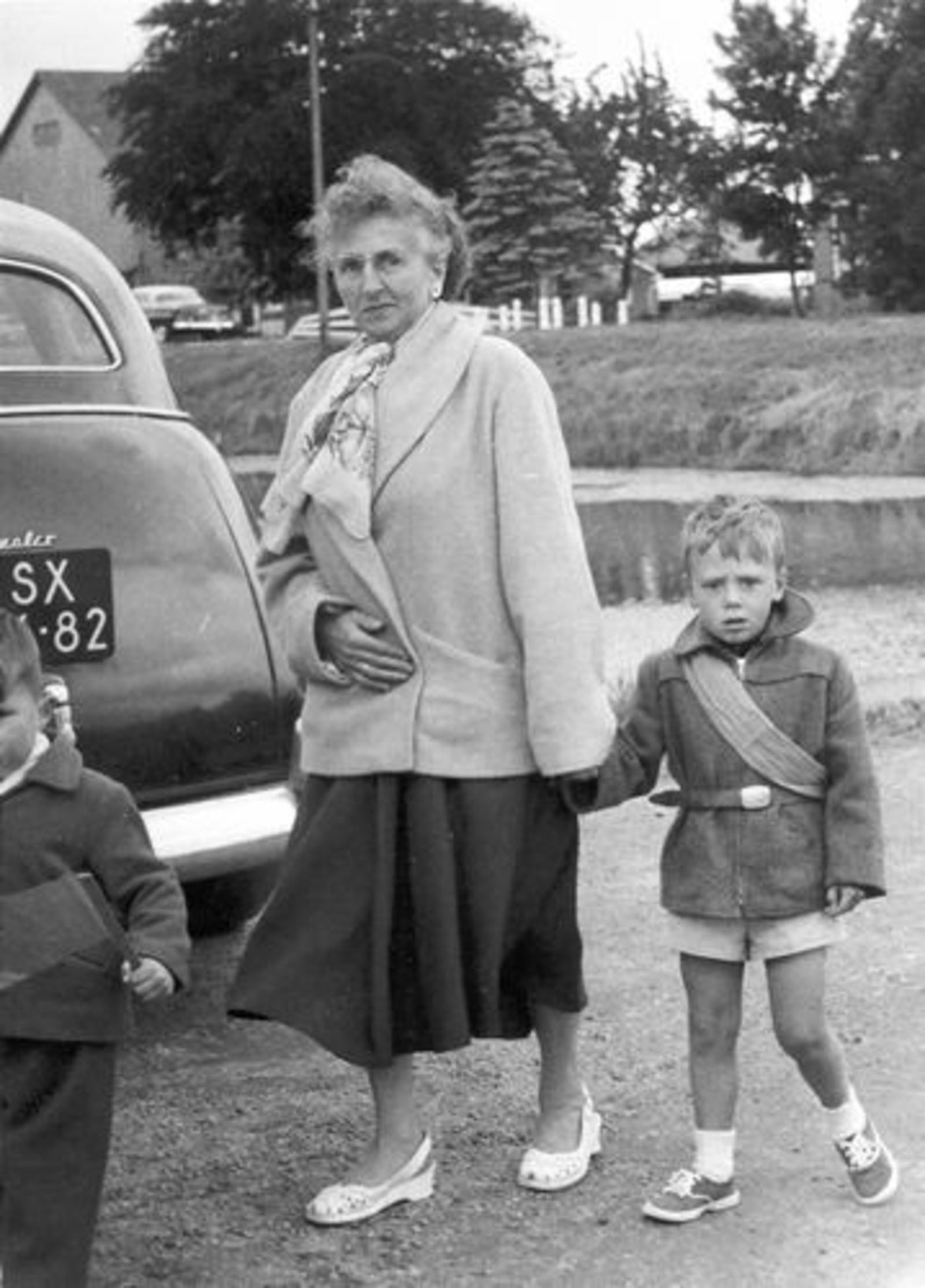 Schreuders-Feeleus Jannie 1956± met zoon Cok