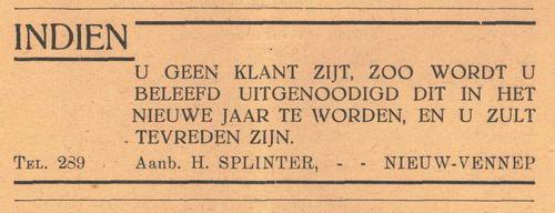 Splinter H 1938 Aanb in Nieuw-Vennep