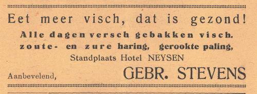 Stevens Gebr 1938 Visboer bij Hotel Neijsen in Nieuw-Vennep
