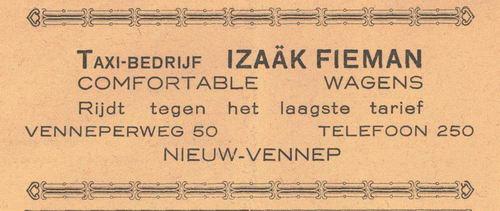 Venneperweg Z 0050 1938 Izaak Fieman Taxibedrijf