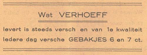 Verhoef 1938 Banketbakker in Nieuw-Vennep