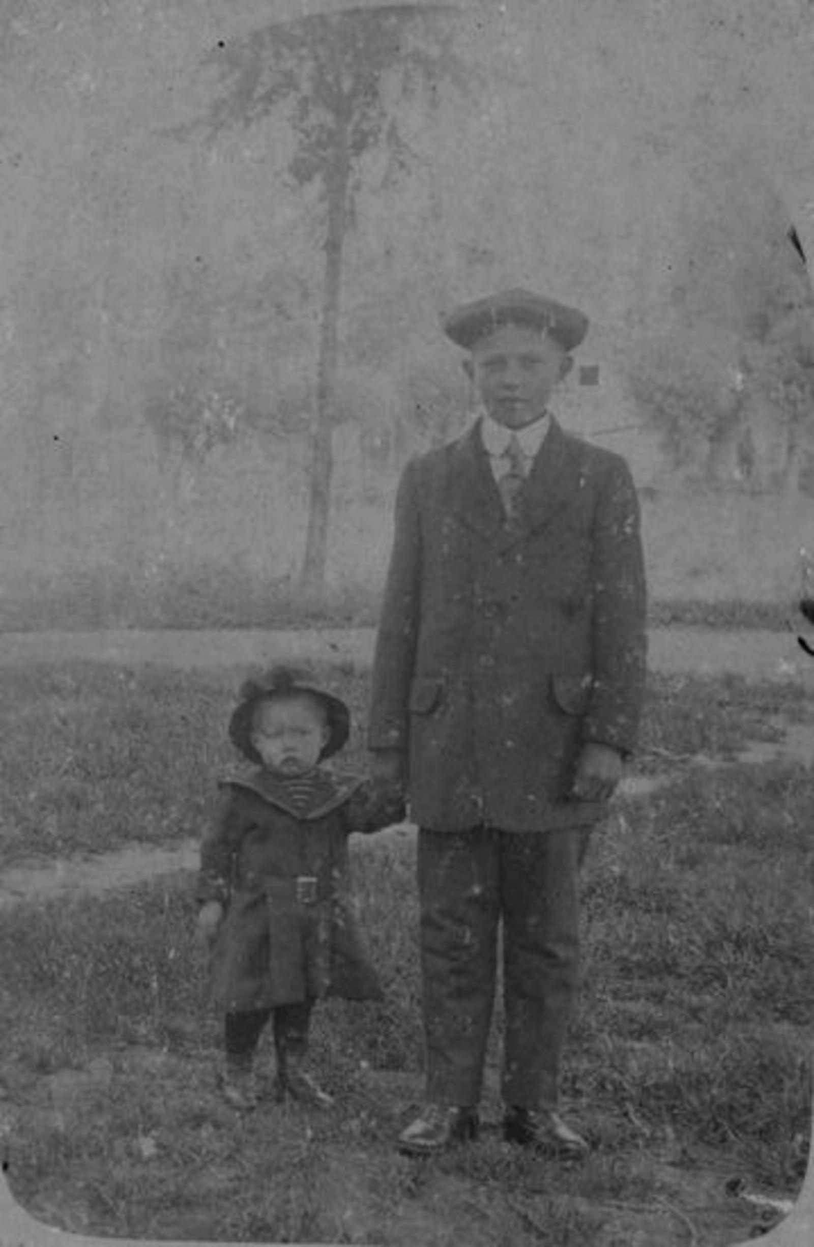 Verhulst Gerrit Pzn 1915 1917± met broer Jacob