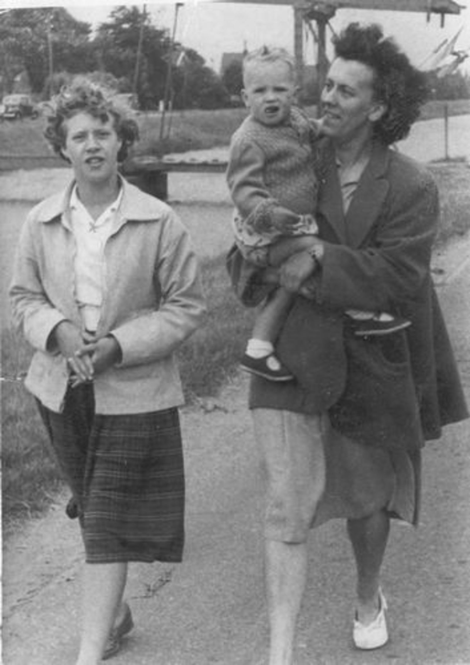 Wassenaar Cock 1952 met Buurvrouw v Zelst naar de Kermis