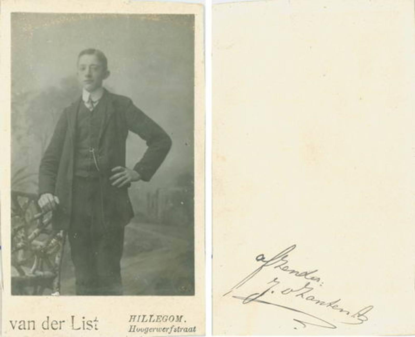 Zanten Jan v Abrzn 1892 19__ bij Fotograaf