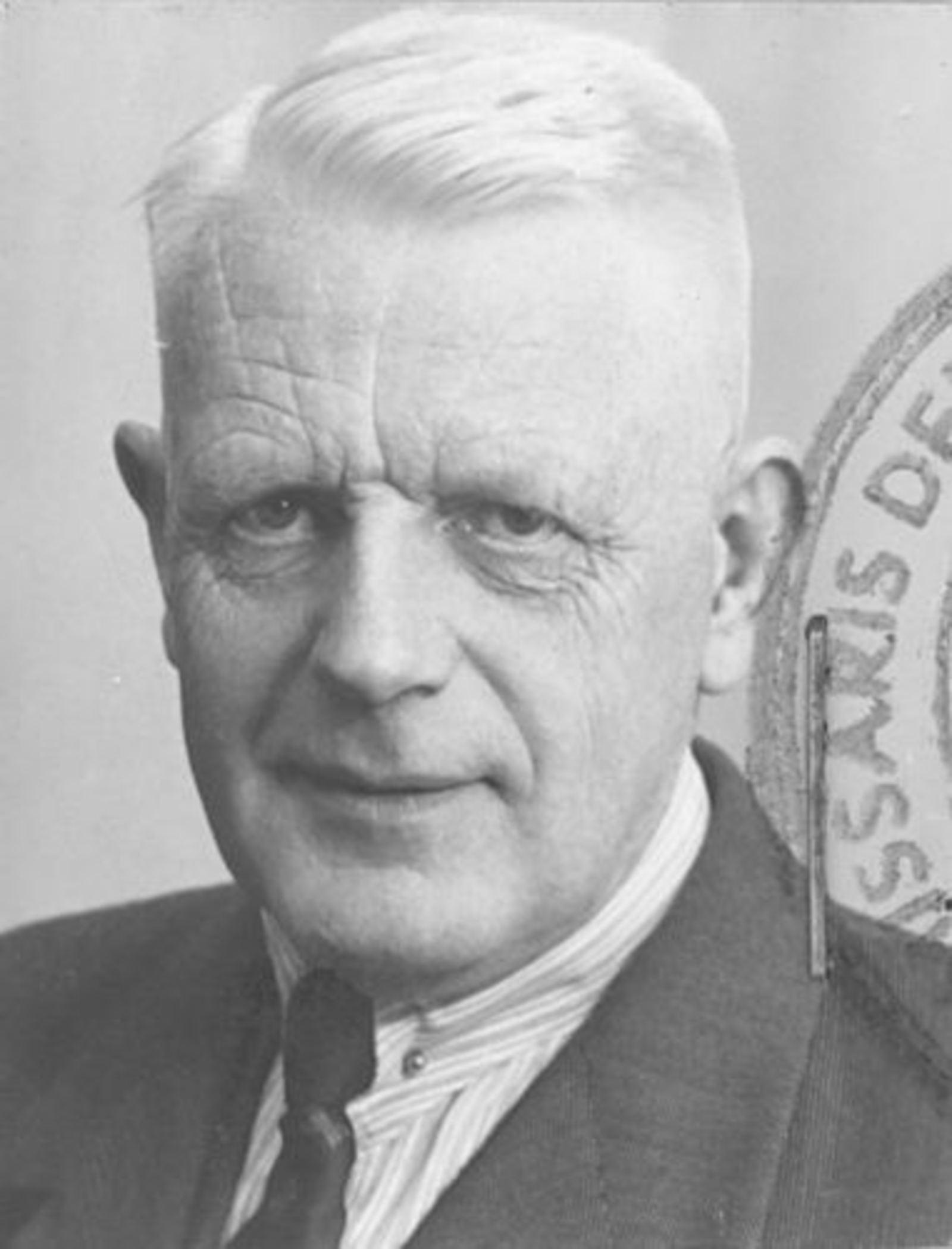 Zwager Nicolaas J 1890 1952 Pasfoto