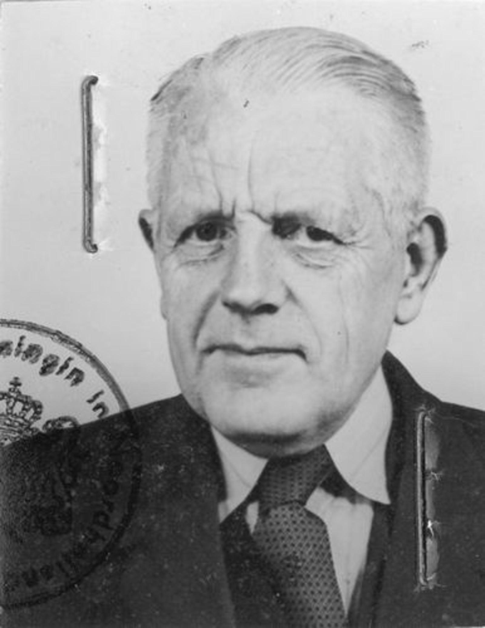 Zwager Nicolaas J 1890 1956 Pasfoto