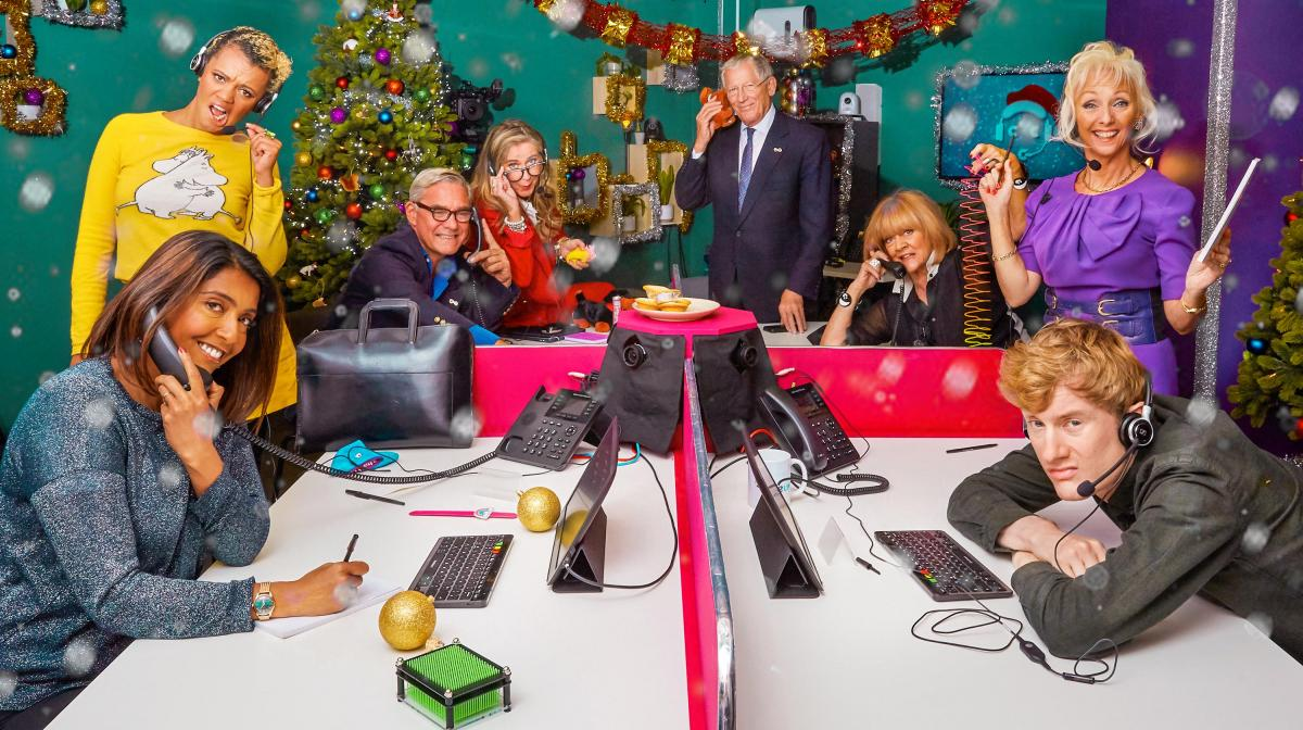 Celebrity Call Centre at Christmas