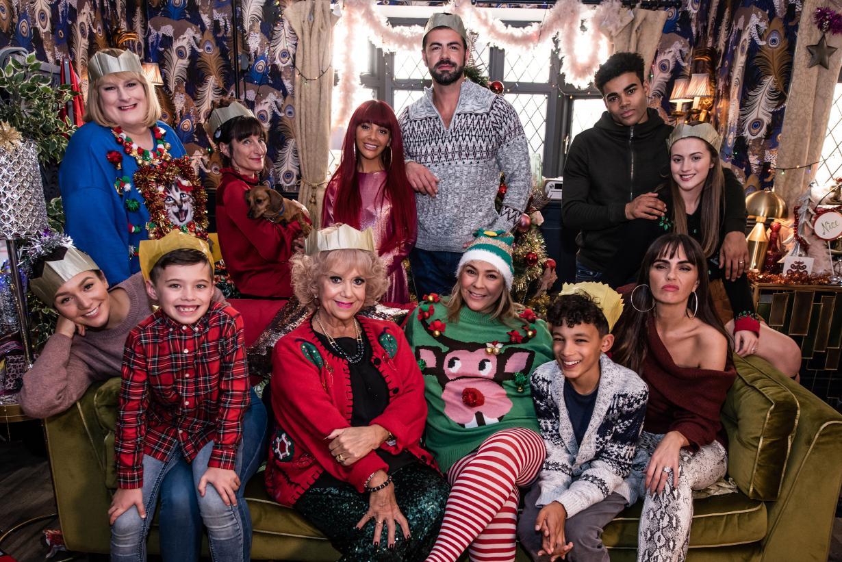 Hollyoaks Christmas McQueen Family
