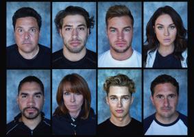 Celebrity Hunted Series 2 (SU2C) - top line: Dom, Kem, Chris and Vicky. Bottom Line: Louis, Kay, AJ and Johnny